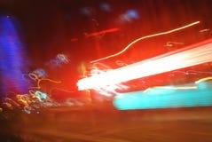 Abstracte achtergronden van lichte stromen stock afbeelding