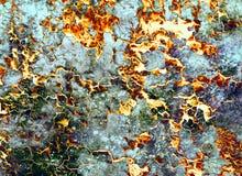 Abstracte Achtergrondkleurencollage met vlekken en woestijnritselen Stock Afbeelding