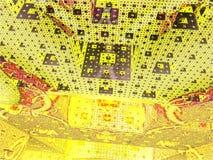 Abstracte achtergrondkubuswereld royalty-vrije stock foto