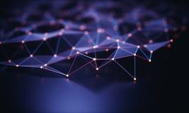 Abstracte Achtergrondtechnologieverbinding Stock Foto