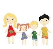 abstracte achtergrondwhit gelukkige kinderen Stock Afbeeldingen
