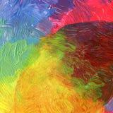 Abstracte acryl en waterverf geschilderde achtergrond Royalty-vrije Stock Foto's