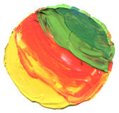 Abstracte acryl en waterverf geschilderde achtergrond Stock Fotografie