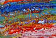 Abstracte Acryl giet het Schilderen stock foto's