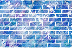 Abstracte Acrylmuur Stock Foto