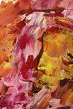 Abstracte acrylontwerp dichte omhooggaand Royalty-vrije Stock Foto's