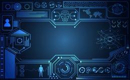 Abstracte Ai van het technologie ui futuristische concept hud interface holog vector illustratie