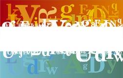 Abstracte alfabetachtergrond Stock Afbeelding