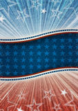 Abstracte Amerikaanse patriottische achtergrond Royalty-vrije Stock Afbeelding