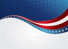 Abstracte Amerikaanse Vlag stock illustratie