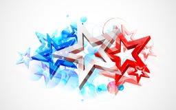 Abstracte Amerikaanse Vlagachtergrond Royalty-vrije Stock Afbeeldingen