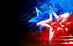 Abstracte Amerikaanse Vlagachtergrond Stock Afbeelding