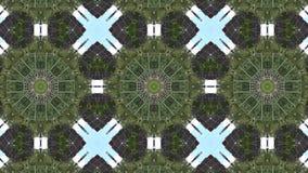 Abstracte animatie met hand getrokken geometrisch caleidoscooppatroon stock footage