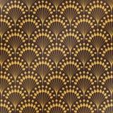 Abstracte antieke klassieke gouden bloemen het patroonachtergrond van het luxeart deco U kunt voor dekkingsstijl, druk, advertent vector illustratie