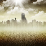 Abstracte Apocalyptische achtergronden Royalty-vrije Stock Afbeeldingen