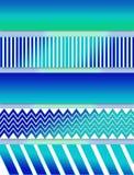 Abstracte Aqua Blues Illustration in Lagen stock illustratie
