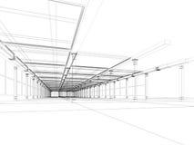 Abstracte architecturale bouw Royalty-vrije Stock Afbeeldingen