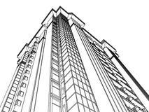 Abstracte architectuur Royalty-vrije Stock Afbeeldingen