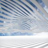 Abstracte architectuur 3d achtergrond Royalty-vrije Stock Fotografie