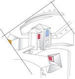Abstracte architectuur Stock Afbeelding