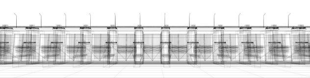 Abstracte architectuur Royalty-vrije Stock Foto's