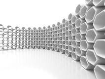 Abstracte Architectuur Hexagon Futuristische Achtergrond Stock Foto