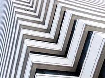Abstracte architectuur van een modern gebouw Stock Foto