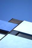 Abstracte architectuurachtergrond Blauwe Meetkunde stock fotografie