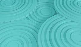 Abstracte architectuurachtergrond 3d Illustratie van de Witte Cirkelbouw Royalty-vrije Stock Afbeeldingen