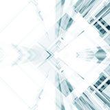 Abstracte architectuurachtergrond het 3d teruggeven Stock Foto's