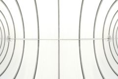 Abstracte architectuurachtergrond Plafond van onderaan, vissenoog royalty-vrije stock foto