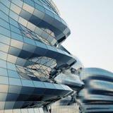 Abstracte architectuurmuur Stock Afbeelding