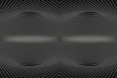 Abstracte artistieke 3d illustratie van uniek krommemodel van ruimte volgens fysica royalty-vrije illustratie