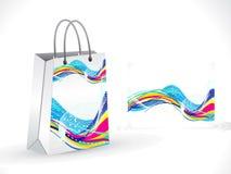 Abstracte artistieke kleurrijke het winkelen zak Stock Afbeeldingen