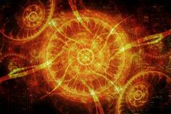 Abstracte Artistieke Vuren Energieke Achtergrond stock illustratie