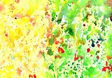 Abstracte artistieke waterverfachtergrond Stock Afbeelding