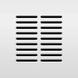 Abstracte Audiospreker Stock Afbeelding