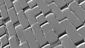 Abstracte baksteenachtergrond, 3 D geeft terug Royalty-vrije Stock Afbeeldingen