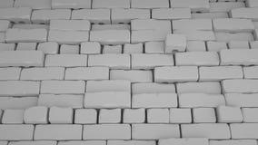 Abstracte baksteenachtergrond, 3 D geeft terug Stock Afbeeldingen