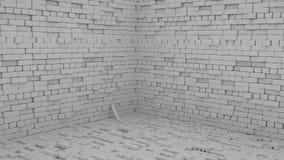 Abstracte baksteenachtergrond, 3 D geeft terug Royalty-vrije Stock Foto