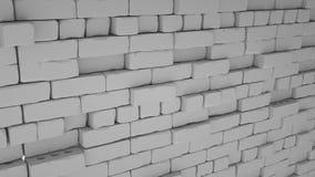 Abstracte baksteenachtergrond, 3 D geeft terug Royalty-vrije Stock Foto's