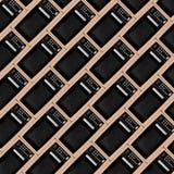 Abstracte bakstenen muur als achtergrond van lichte Microgolf Stock Afbeelding