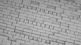 Abstracte bakstenenachtergrond, 3 D geeft terug Stock Foto