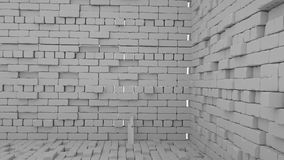 Abstracte bakstenenachtergrond, 3 D geeft terug Royalty-vrije Stock Foto's