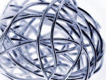 Abstracte bal van zilveren draad Stock Foto's