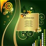 Abstracte banner, bloemvector Stock Afbeeldingen