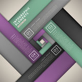 Abstracte bannerinfographics Stock Foto