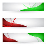 abstracte bannerreeks Stock Afbeelding