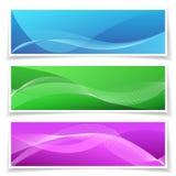 Abstracte Bannerreeks Als achtergrond Stock Afbeeldingen