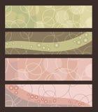 Abstracte banners in pastelkleuren Royalty-vrije Stock Fotografie